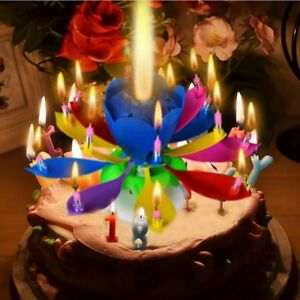 Image Is Loading Musical Lotus Flower Happy Birthday Candle Music