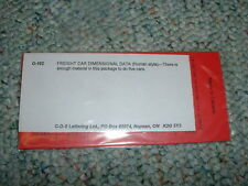 CDS decals dry transfers O Gauge O-102 Freight Car dimensional Roman Red   H8