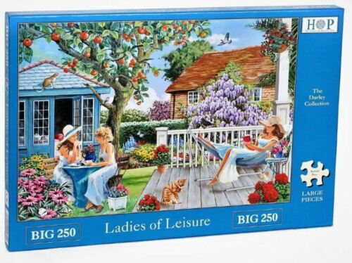 House Of Puzzles Big 250 piece jigsaw puzzle LADIES OF LEISURE large pieces