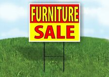 Furniture Sale Red Yellow Plastic Yard Sign Road Sign With Stand