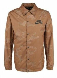 4cb76b153964 Image is loading Nike-SB-ASST-Coaches-Mens-Jacket-Brown-XXL-