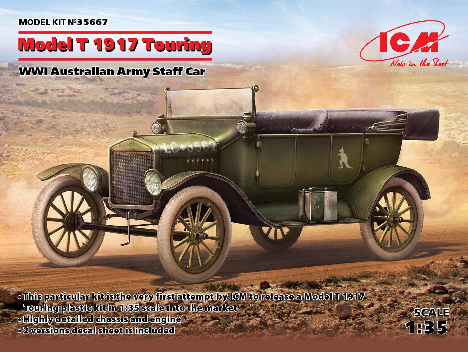 Icm 1 1 1 35 Modello T 1917 Touring WWI Australiane Esercito Bastone Auto 81daa7