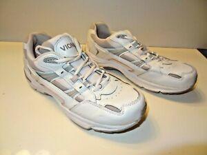 ORTHAHEEL-Vionic-WALKER-Orthotic-Comfort-Shoe-White-Pink-Leather-Women-s-Sz-9