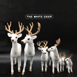 image is loading white deer christmas xmas reindeer kid doll decor