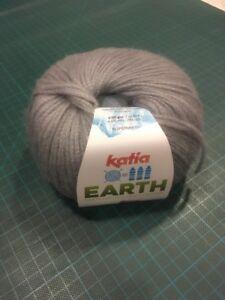 Black Shade 206 Katia Earth Eco Yarn Soft Merino Wool Recycled Bottles