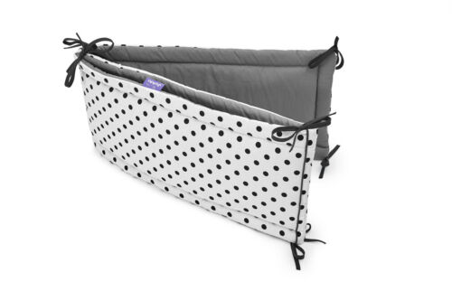 Baby Cot Bumper Wrap Around Protection 100/% Cotton for Baby/'s Bed Dots