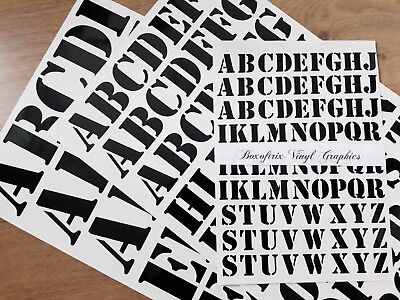 "1/"" 25mm 2/"" 50mm 3/"" 75mm SELF ADHESIVE VINYL STENCIL LETTERS STICKERS DECALS"
