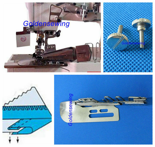 CoverStitch Machine Binder Semi-Fold Binding Attachment For Flatbed Machines