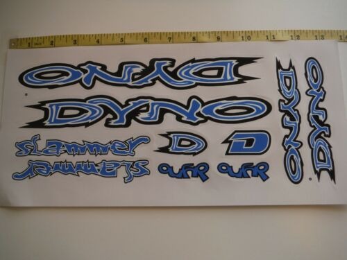 DYNO Slammer Stickers Blue White /& Black DIE-CUT