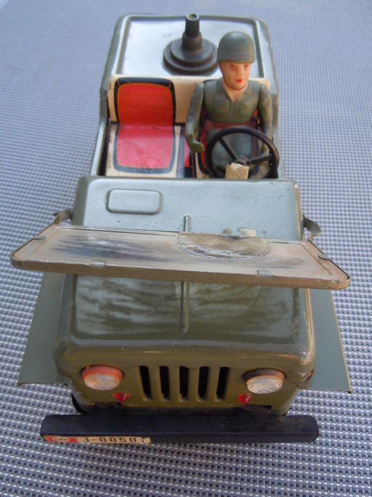 Jeep militaire soldat jouet rolle lithographi é e fabricado espana clim