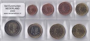NEDERLAND-UNC-EURO-SET-2000-serie-van-8-munten-1-cent-t-m-2-euro