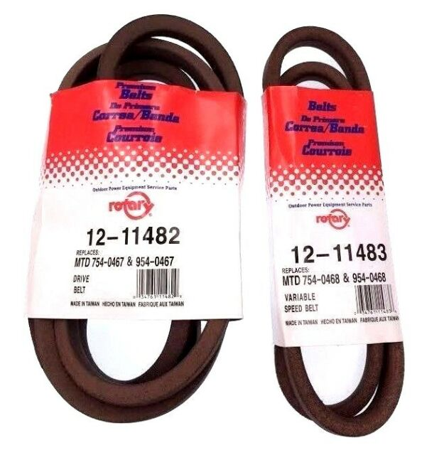 OEM SPEC EXACT FIT Toro 112-0301 /& 112-0305  Variable Speed Belt Set SET