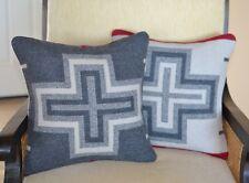 Item 2 Pair San Miguel Pillow Covers Handmade Of Pendleton Blanket Weight Wool Fabric