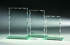 18 Glas-Trophäen 6mm  Wellenschliff 19x12cm # 8 (Glaspokale Pokal Gravur Pokale)