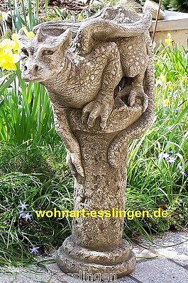 GA1118 Drache Theron auf Steinsäule sitzend Fiona Scott Pheebert's Statuary