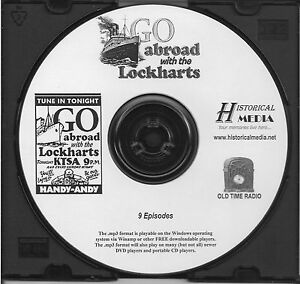 ABROAD-WITH-THE-LOCKHARTS-9-Shows-Old-Time-Radio-In-MP3-Format-OTR-On-1-CD