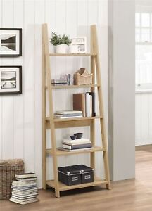 Image Is Loading Birlea Nordic Scandinavian Retro Ladder Bookcase Shelving Shelf