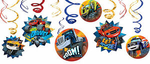 Blaze-And-The-Monster-Machines-Party-Supplies-SWIRL-DECORATIONS-Pack-Of-12