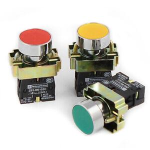 1pcs-22mm-Momentary-Push-Button-Switch-10A-round-Panel-NC-NO-XB2-BA31-XB2-B-xb