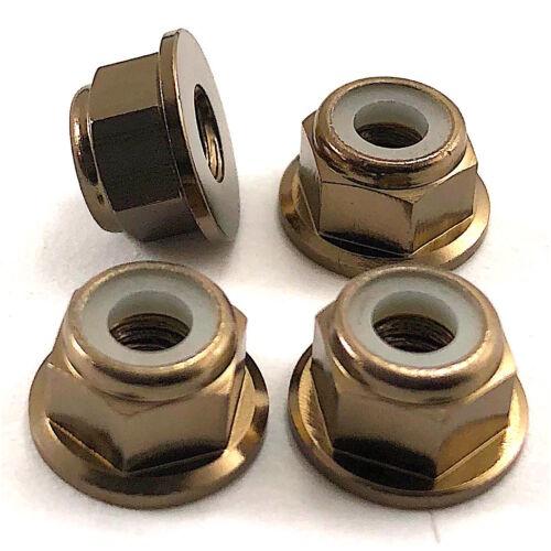 RC PEW 4mm Wheel Axle FLANGE LOCK NUT Fits Tamiya TA03F Pro TRF Axial Himoto