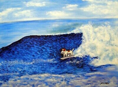 jack russell terrier BIRTHDAY 8x10  art artist print animals impressionism