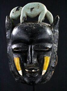 Arte Africano Pasqua Kunst Maschera Di Portabambino Nyabwa Guéré 24,5 CMS