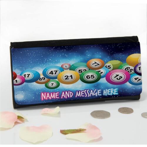 Personalised Best Bingo Game Balls Ladies Large Money Coin Purse Mum Gift ST443