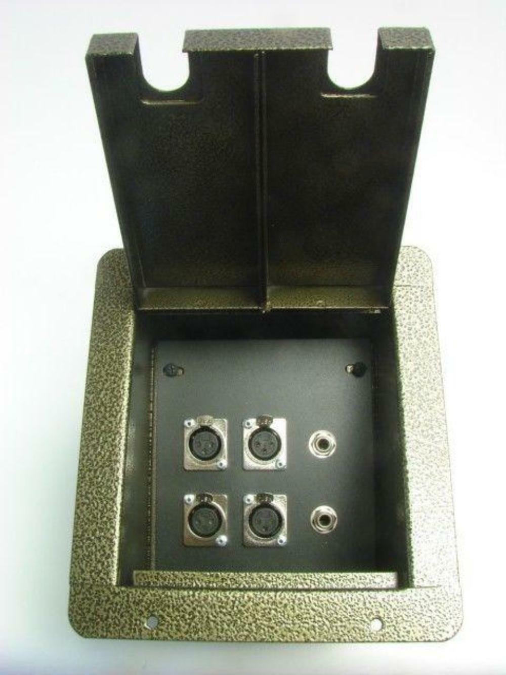 ProCraft Pro Audio Recessed Stage Floor Pocket Box 4 XLR Channel, 2 1 4  - GV