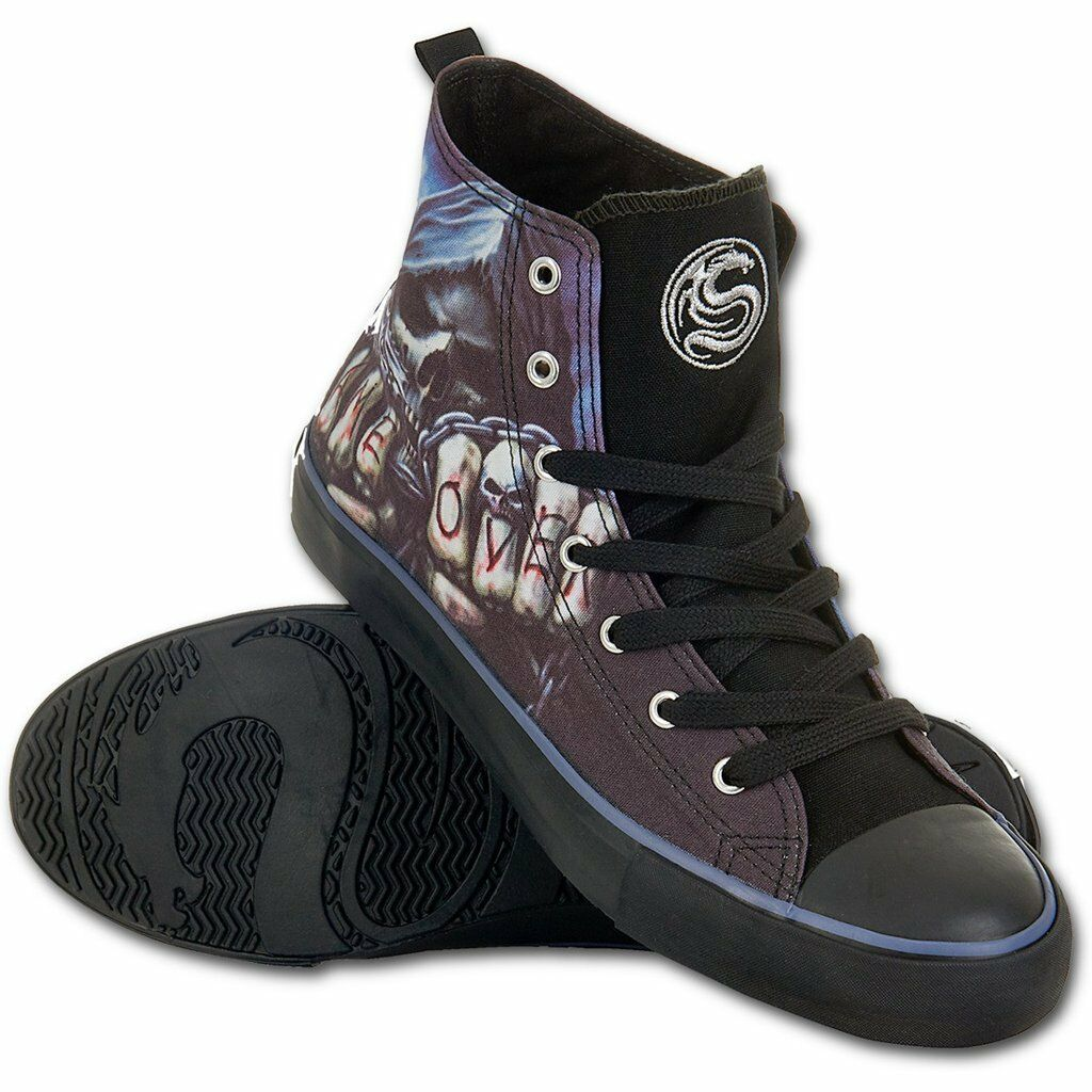 Spiral direct game over-man high top lace trainers rock, sport