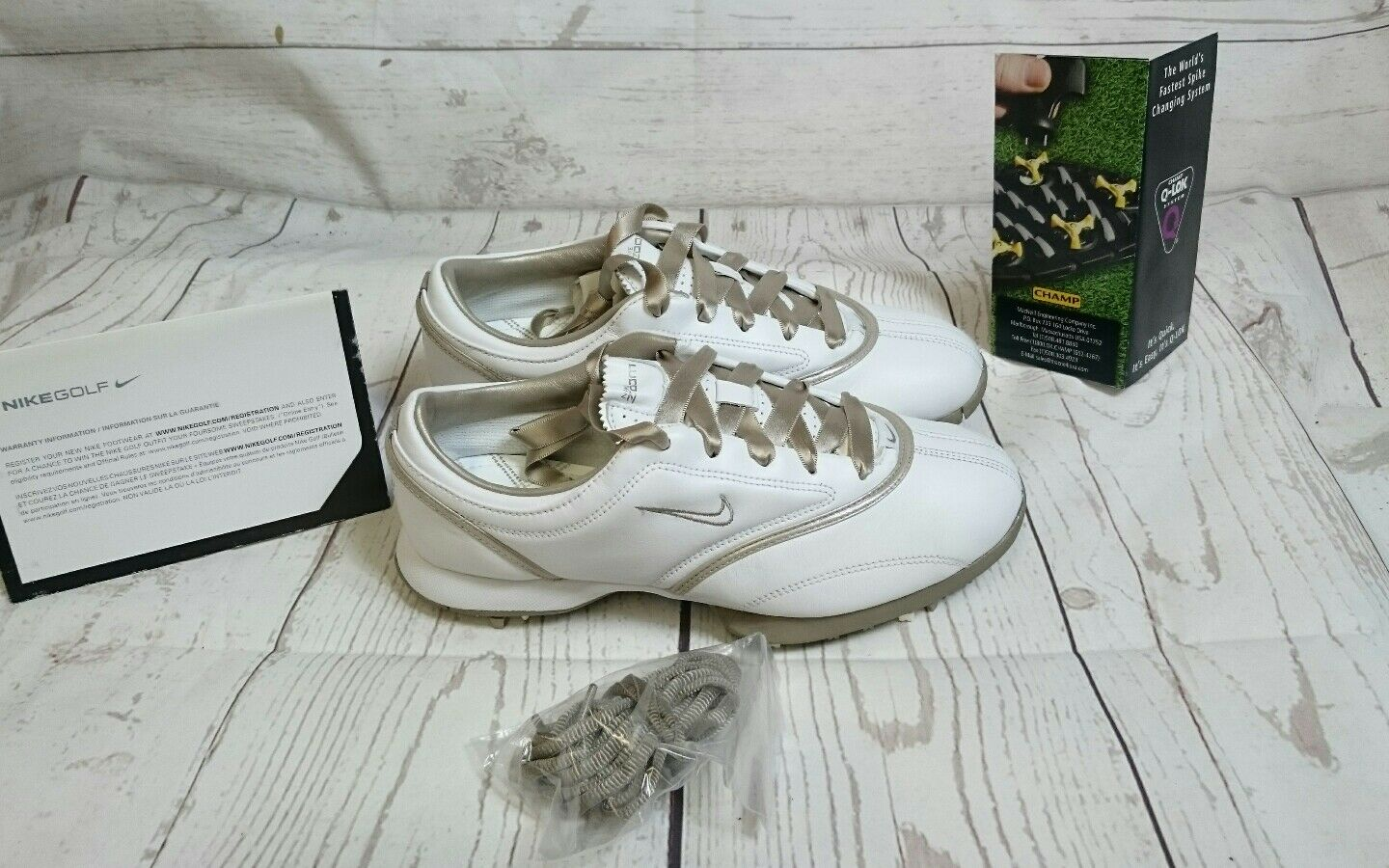 bee8256b8c8 ... New Women s Nike Air Zoom Gem Gem Gem leather White Golf Shoes Size 9  msrp  155 ...
