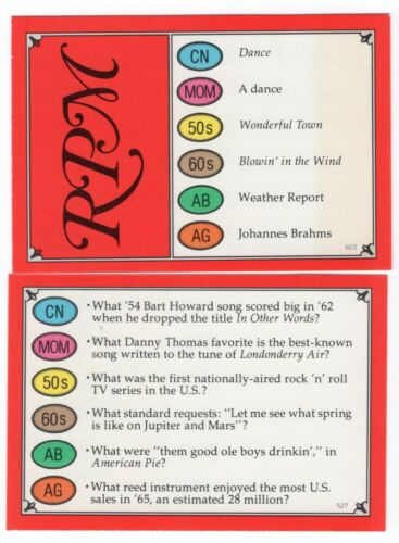 100 Trivial Pursuit Cards RPM
