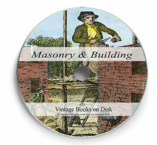 Rare Books on DVD Learn Masonry Brick Laying Plastering Building Architecture 33