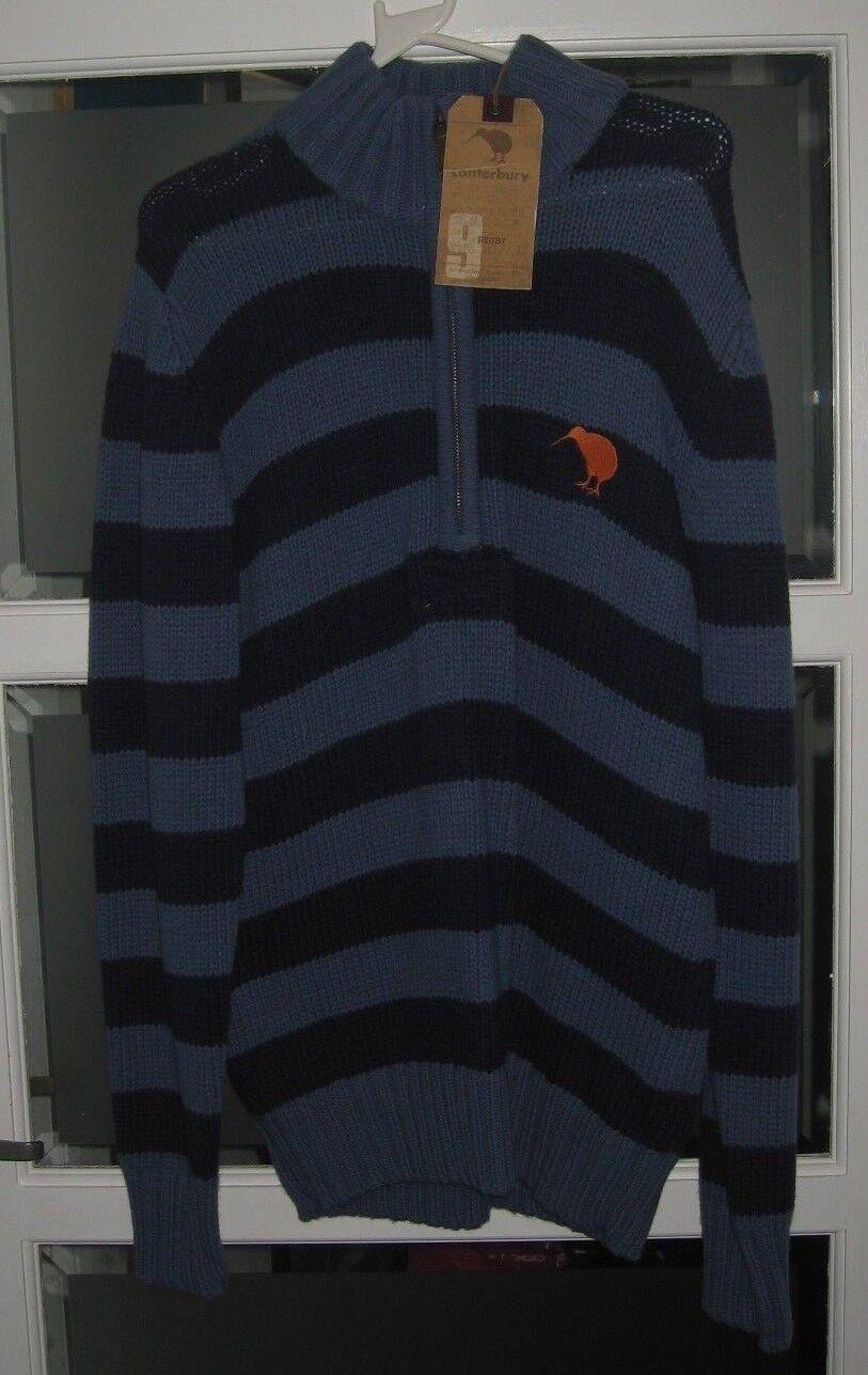 Canterbury Calnan Stripe Zip For  Herren Coastal Blau Zip Top Größe M