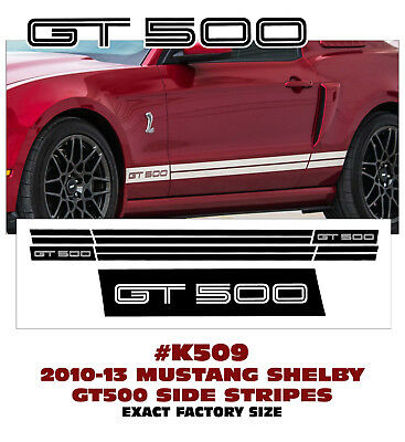 2010 2011 2012 2013 2014 Shelby GT500 STYLE FORD MUSTANG ROCKER STRIPE DECAL