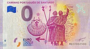 BILLET-0-EURO-CAMINHO-PORTUGUES-DE-SANTIAGO-2019-NUMERO-2500