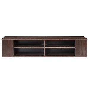 Floating TV Stand AV Shelf Wall Mounted Console Wood Meida Storage,Walnut