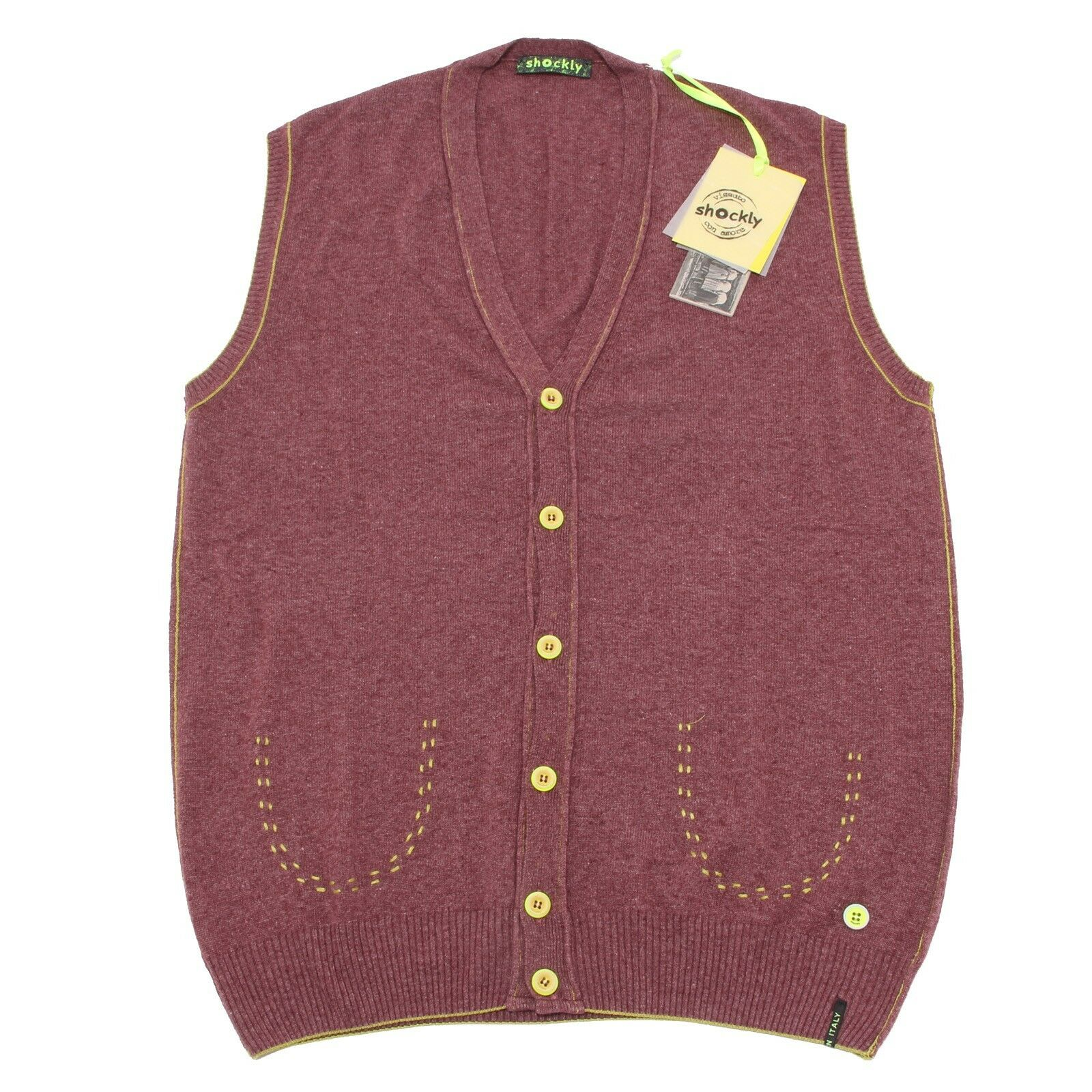 2200Q gilet uomo SHOCKLY SHOCKLY SHOCKLY smanicato bordeaux sleeveless sweater men d31aa8