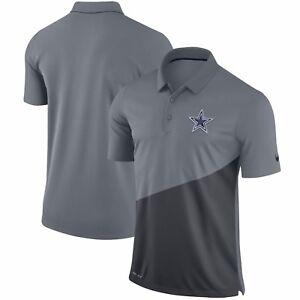 Image is loading Dallas-Cowboys-Nike-Stadium-Performance-Polo-Gray be3979b2e