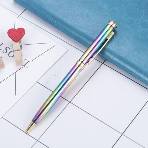 Creative Rainbow Colors Metal Ballpoint Signature Ball Point Writing Gel Pens