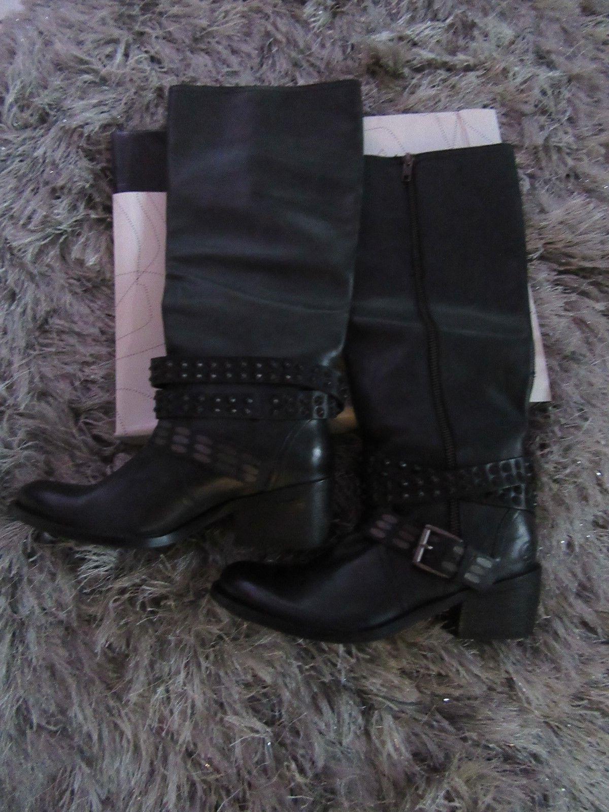 Neue Stiefel der Marke Bronx schwarz komplett aus Leder,in Grösse 38