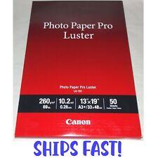 Canon Pro Luster 13x9 Premium 69lb Professional Photo Paper 50 Sheets Inkjet