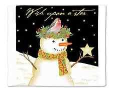 Flour Sack Towel. Christmas Snowman, A Perfect Alternative to Paper Towels