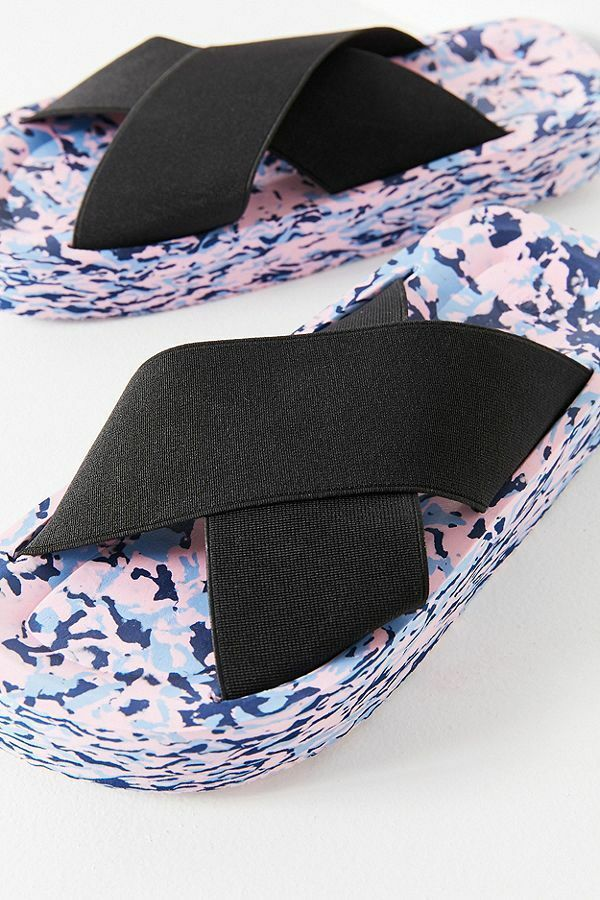 Urban Outfitters On Cross Confetti Platform Pool Slides Sandals Slip On Outfitters Black Sz 6 517cc8
