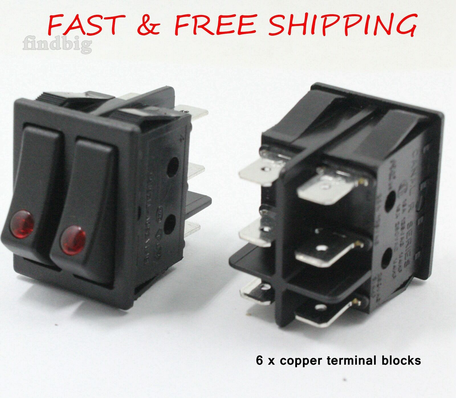 Canal Série R Rocker Switch 16 A//250 V T85//55 ON OFF ON UL VDE durable NEUF