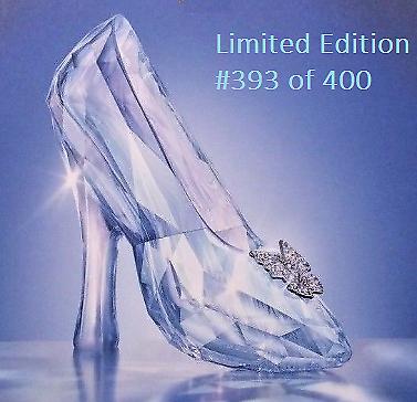 e0b068b55d2c Swarovski SCS Crystal 2015 Disney Cinderella Glass Slipper LE 393 of 400  5179692