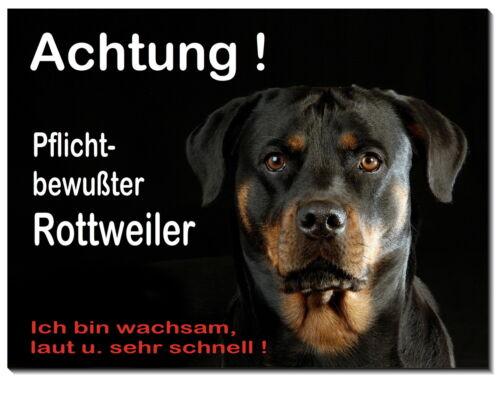 Rottweiler-Hund-Aluminium-Schild-0,5 -3 mm dick-Türschild-Warnschild-Hundeschild
