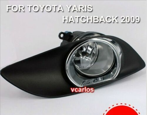 Fog Lamp For TOYOTA YARIS HATCHBACK 2009  ~ON With Frameworks Plating