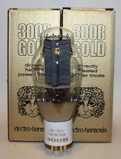 Matched Pair (2 tubes) Electro Harmonix 300B tubes,Gold Grid,NEW