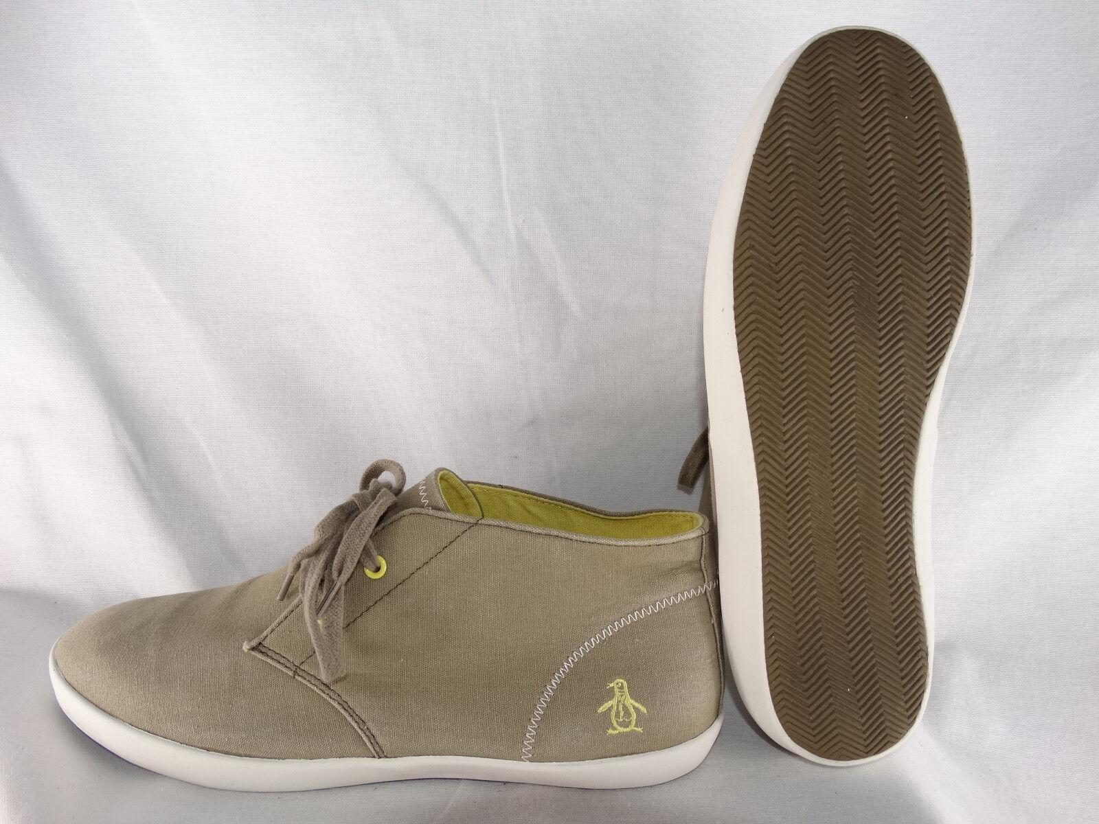 Penguin PG Chukka Mid Canvas Sneaker schilf-gelb-weiß EU 42,5 US 9,5