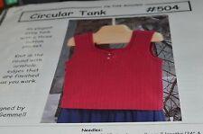 Cabin Fever Knitting Pattern 504 Circular Tank armholes finish as you go 39-51
